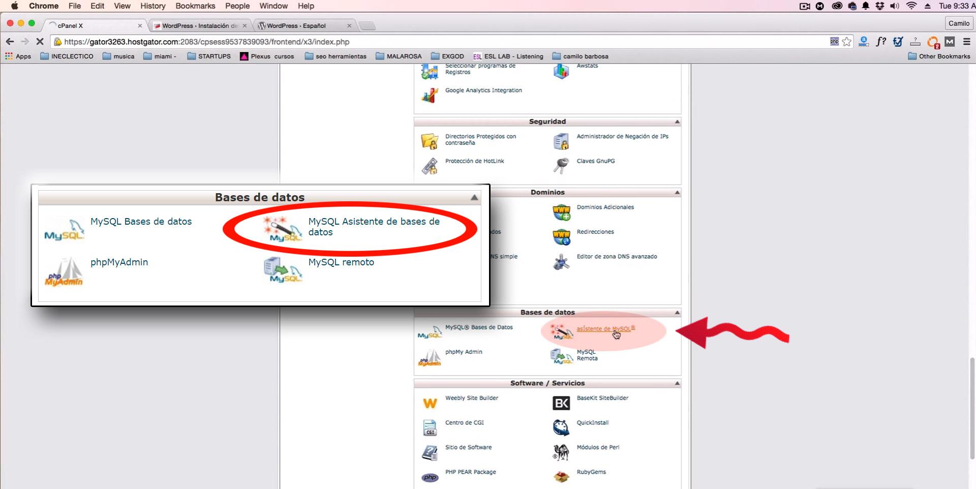 como instalar wordpress desde cpanel - EVOGRAF